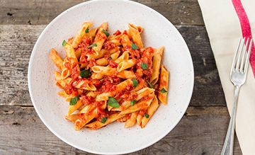 Penne Arrabiata meal kit and recipe from EatSure
